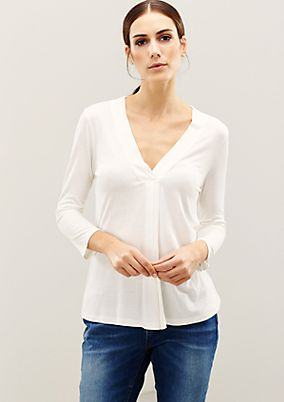Lightweight top with 3/4-length sleeves from s.Oliver