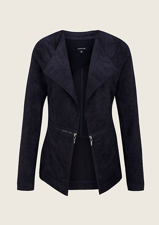 Soft velour blazer with elegant detailing from s.Oliver