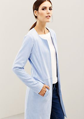 Elegant faux suede coat from s.Oliver