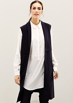 Extravagant long waistcoat with fabulous details from s.Oliver