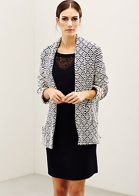 Elegant cardigan with a great two-tone pattern from s.Oliver