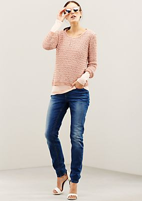 Soft knitted jumper in exciting blended fabric from s.Oliver