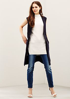 Soft, long, patterned knitted jumper from s.Oliver