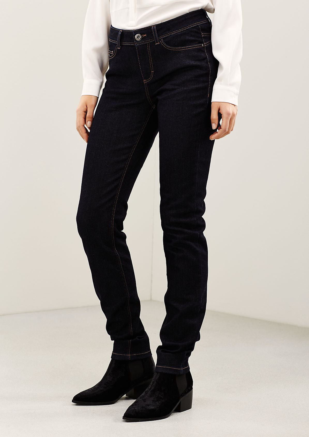 Classic jeans in a trendy unwashed look from s.Oliver