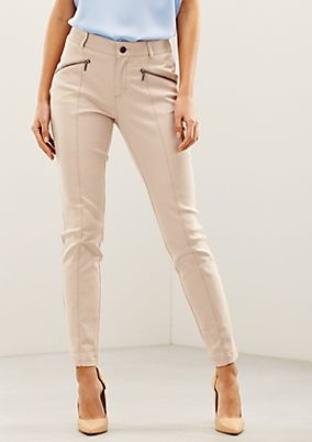 Elegant twill trousers with sophisticated details from s.Oliver