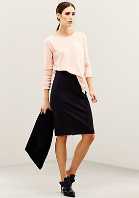 Elegant twill skirt with a fine pattern from s.Oliver