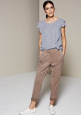 Elegant blouse top with a fine all-over pattern from s.Oliver
