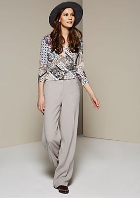 Chic top with 3/4-length sleeves and an artistic pattern from s.Oliver