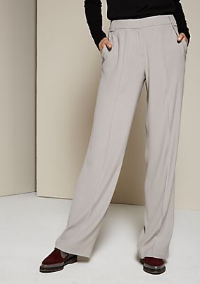 Elegant satin trousers with a straight leg from s.Oliver
