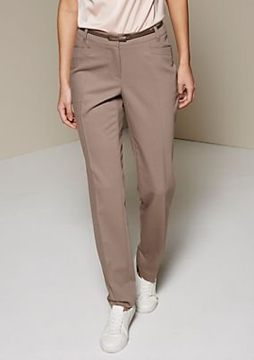 Beautiful business trousers with a sophisticated dobby pattern from s.Oliver