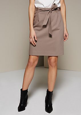 Classic business skirt with a fine dobby pattern from s.Oliver