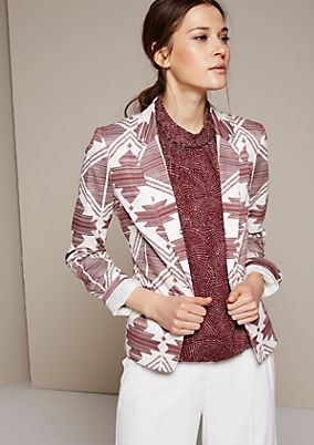 Extravagant blazer with a beautiful all-over pattern from s.Oliver