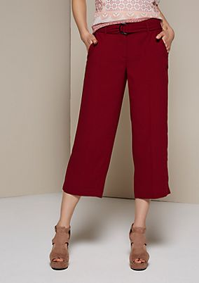 Elegant trousers with a 3/4-length leg and beautiful details from s.Oliver