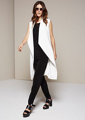 Elegant jumpsuit with a sophisticated decorative trim from s.Oliver