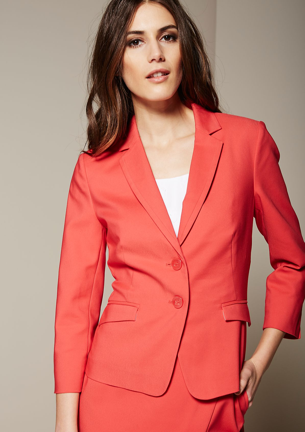 Lightweight summer blazer with elegant details from s.Oliver