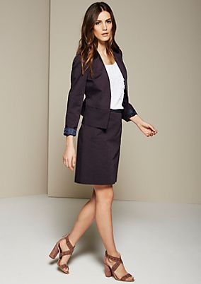 Elegant short blazer with a fine jacquard pattern from s.Oliver