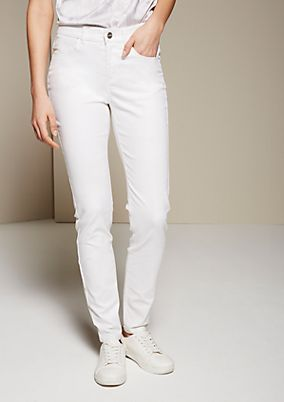 Summery twill jeans with extensive decorative topstitching from s.Oliver