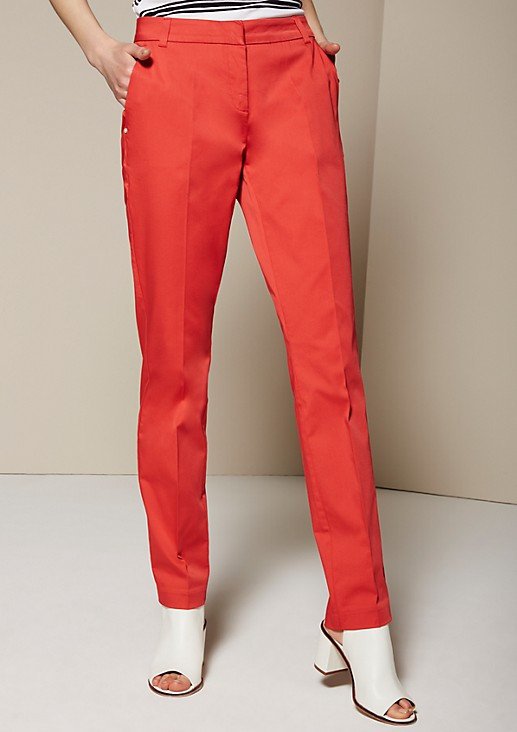 Elegant satin trousers with fine detailing from s.Oliver