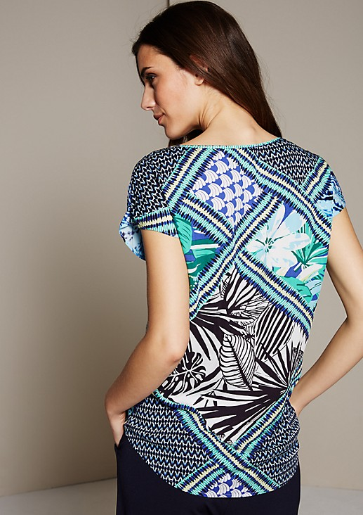 Lightweight blouse top with a colourful all-over print from s.Oliver
