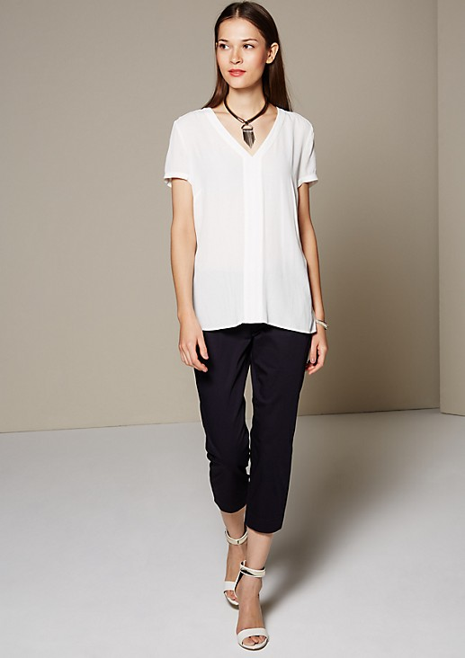 Lightweight crêpe blouse with wonderful details from s.Oliver