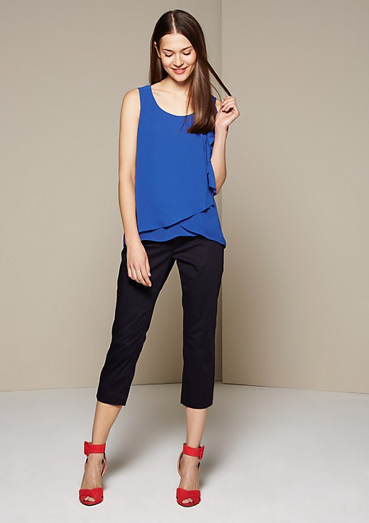 Delicate blouse top in a decorative layered look from s.Oliver