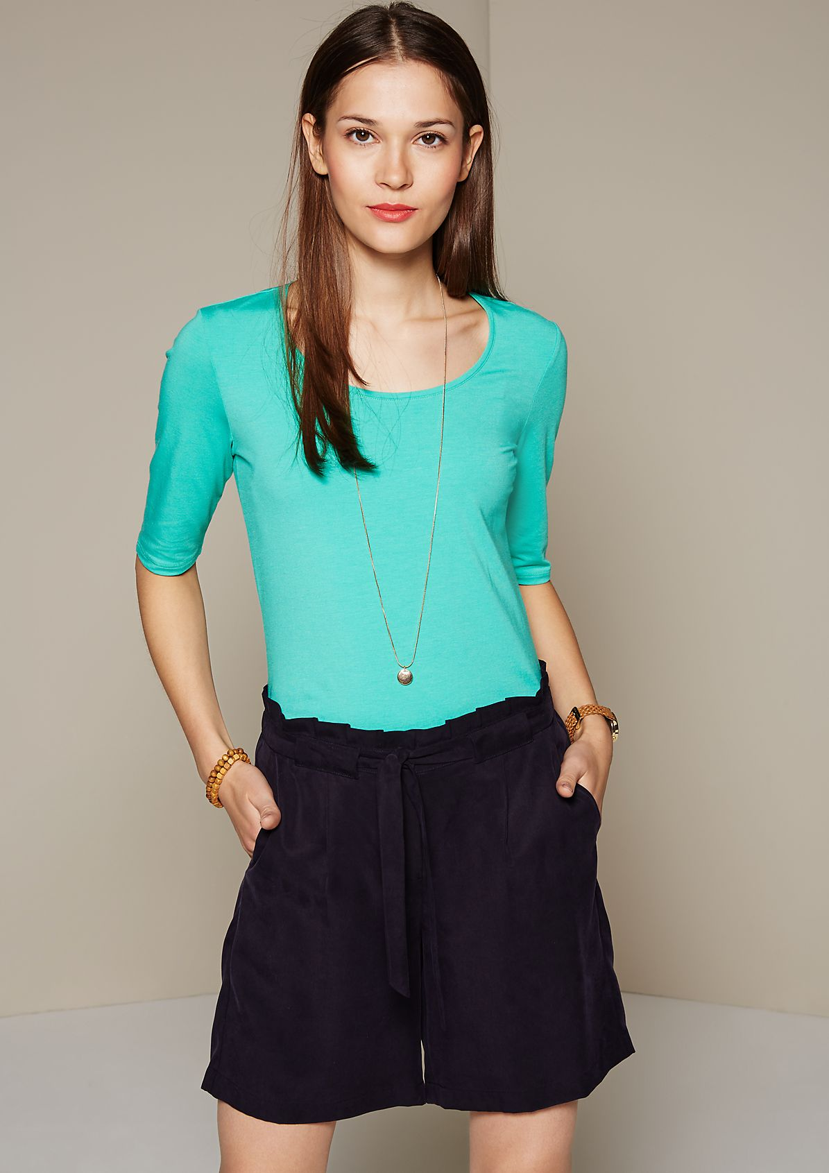 Classic jersey top with 1/2-length sleeves from s.Oliver