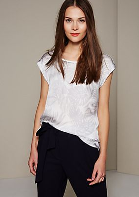 Lightweight top with an elegant pattern from s.Oliver