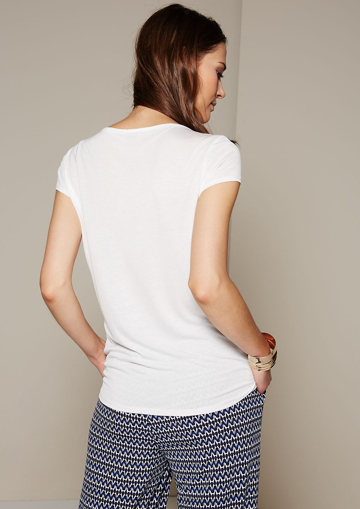 Feminine top in a relaxed mix of fabrics from s.Oliver