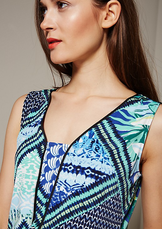 Smart top with a colourful pattern from s.Oliver