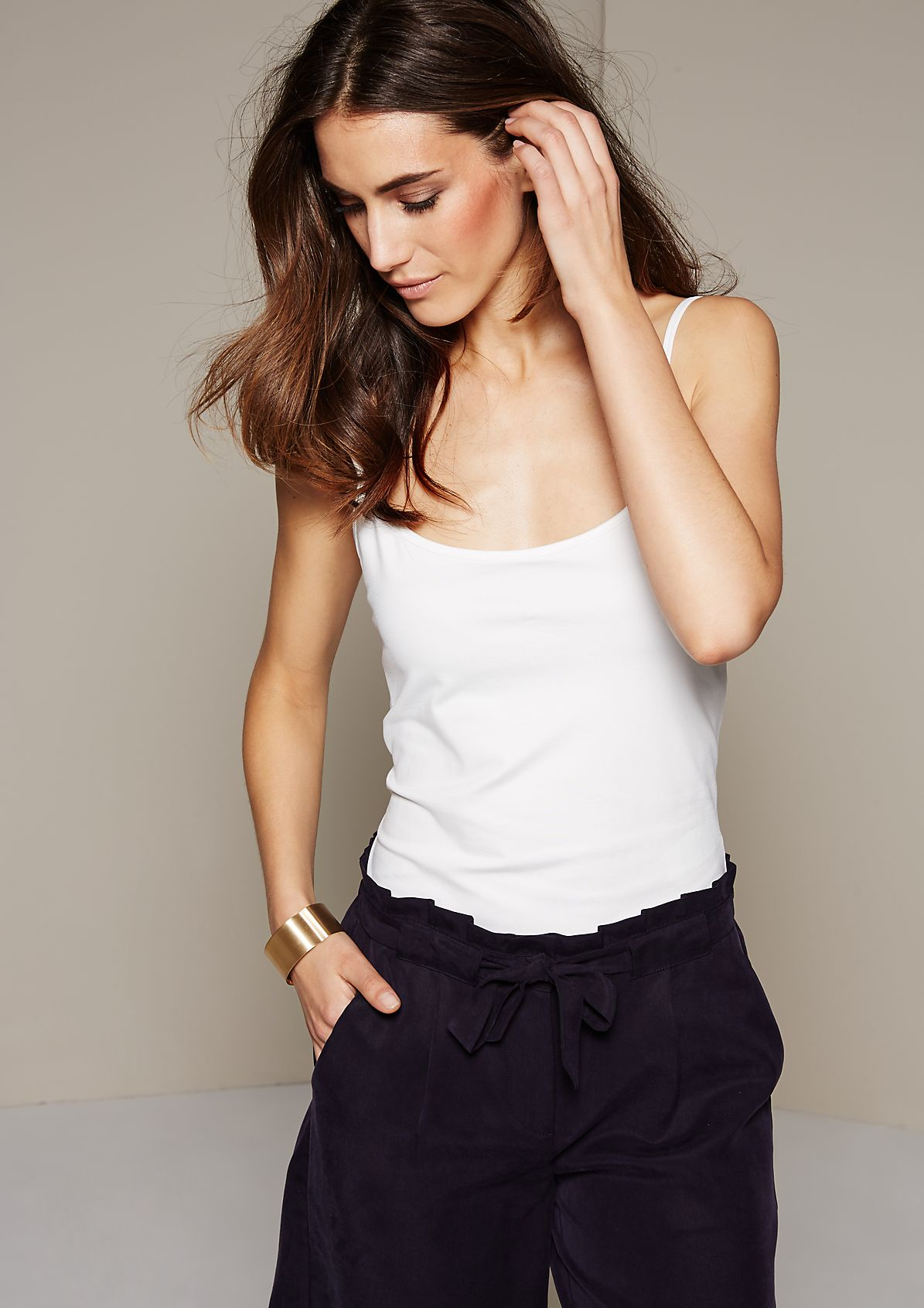 Stunning top with thin straps from s.Oliver