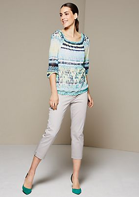 Delicate mesh top with 3/4-length sleeves from s.Oliver
