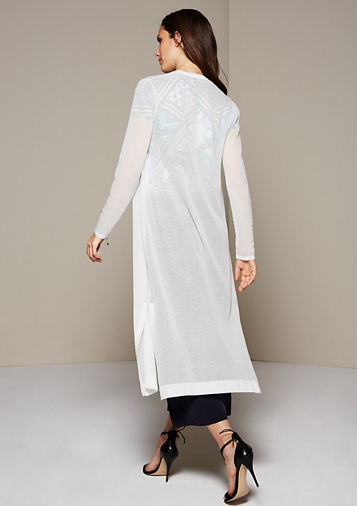 Delicate long cardigan with decorative details from s.Oliver