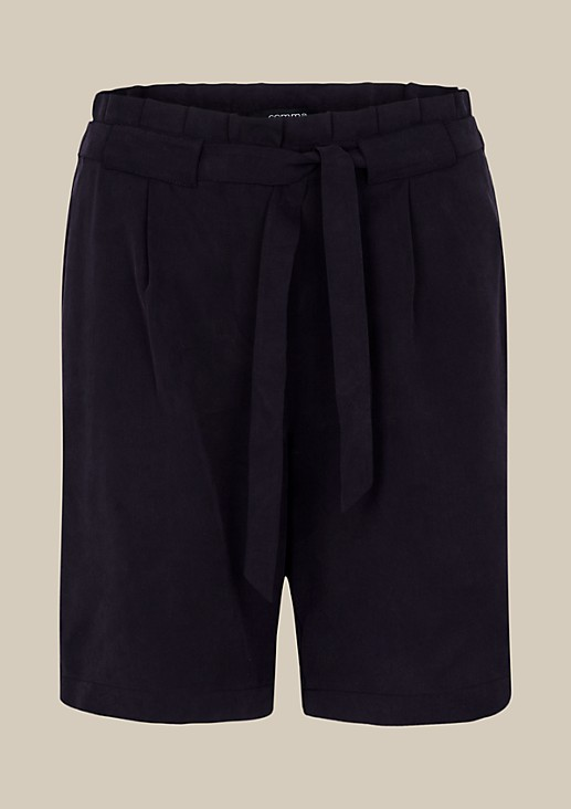Elegant summer shorts with ties from s.Oliver