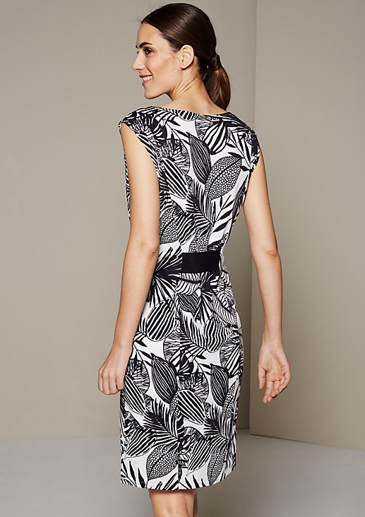 Summery jersey dress with a beautiful all-over print from s.Oliver