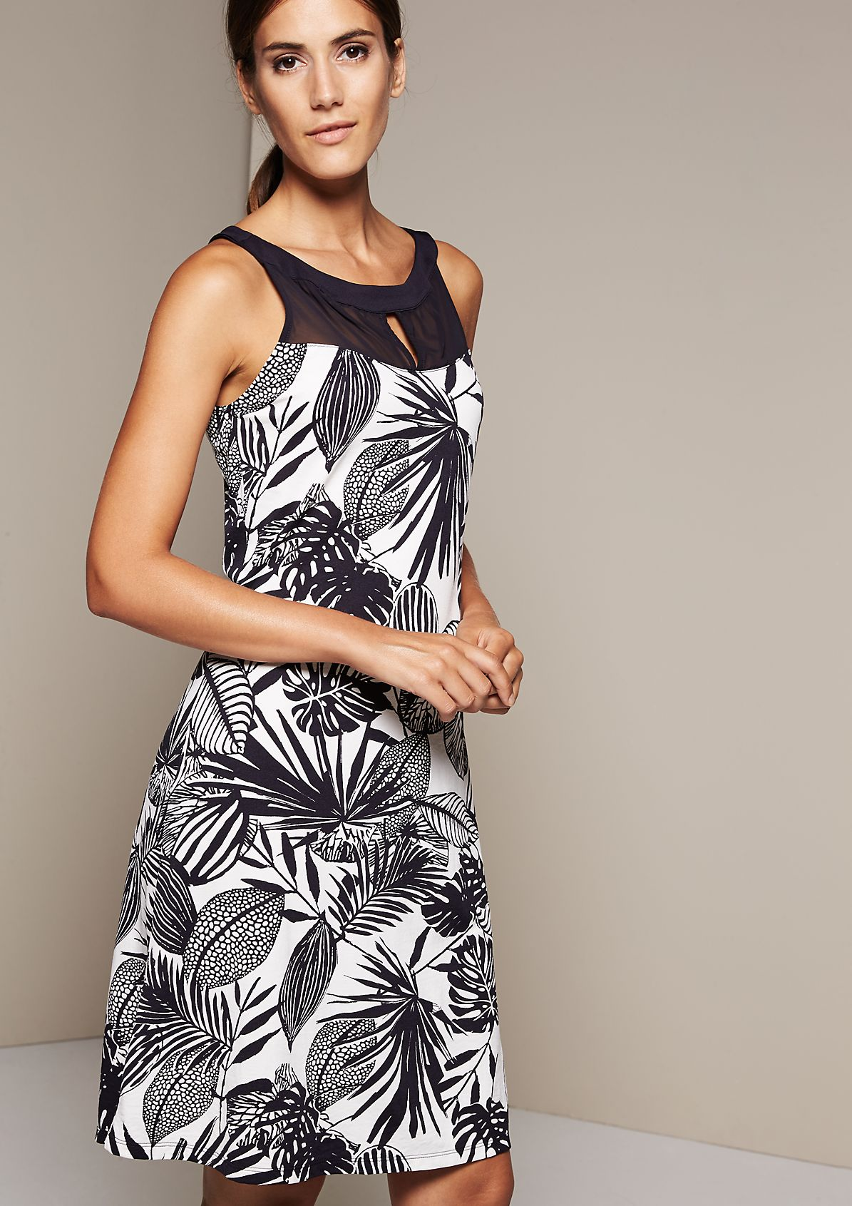Casual summer dress with a beautiful, all-over printed pattern from s.Oliver
