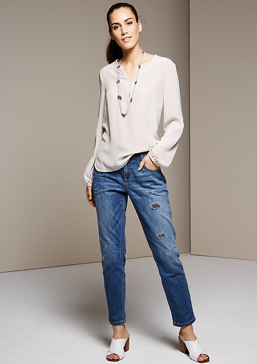 Delicate long sleeve blouse made of elegant silk from s.Oliver