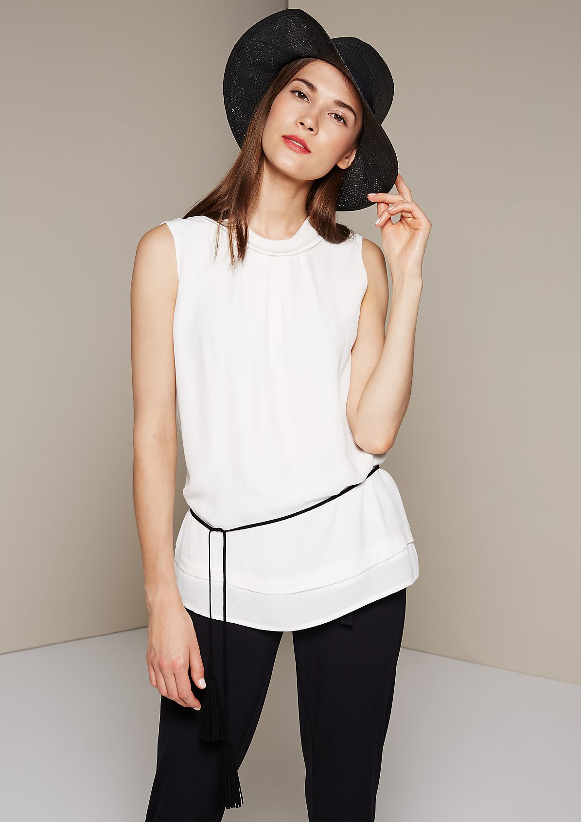 Lightweight crêpe top in a layered look from s.Oliver