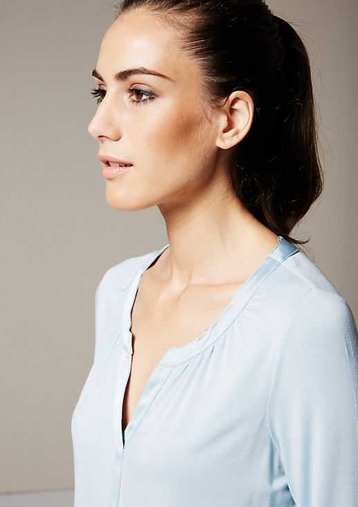 Casual top with 3/4-length sleeves and beautiful details from s.Oliver