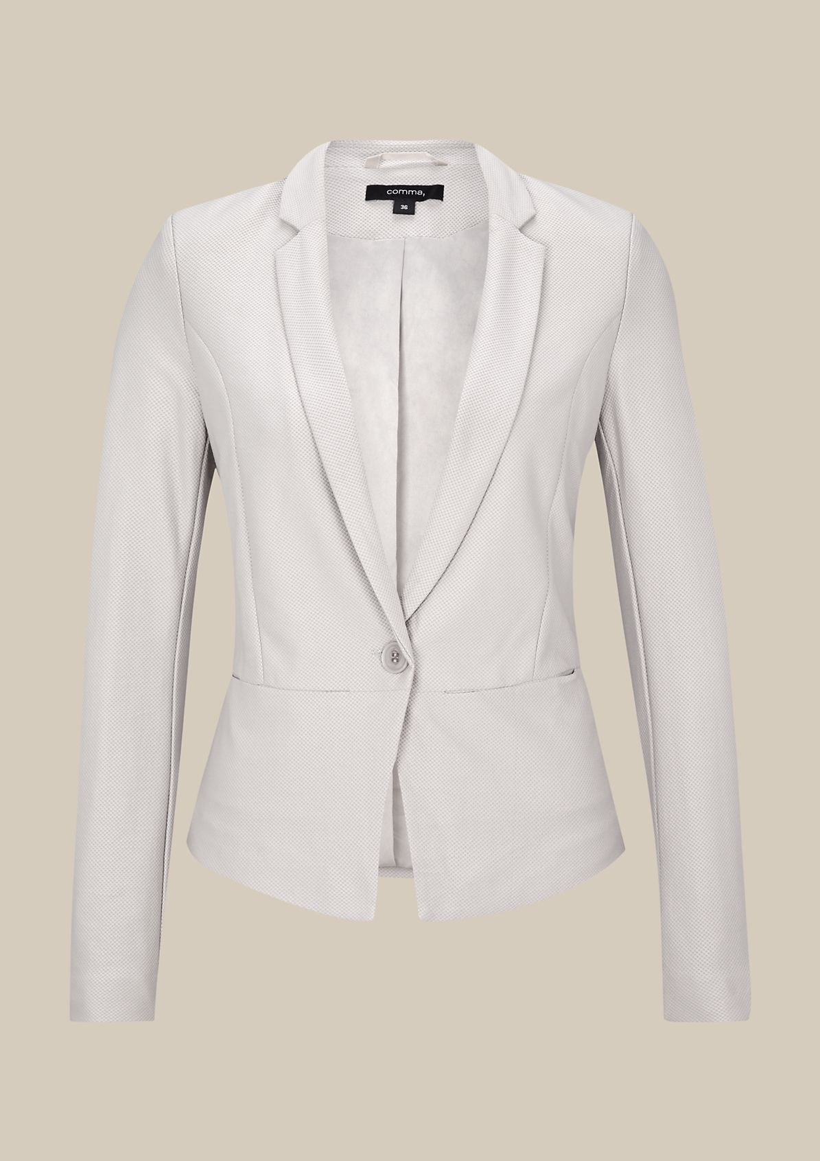 Classic blazer with an extravagant waffle pattern from s.Oliver