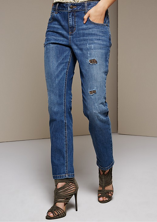 Extravagant five-pocket jeans with sparkling sequins from s.Oliver