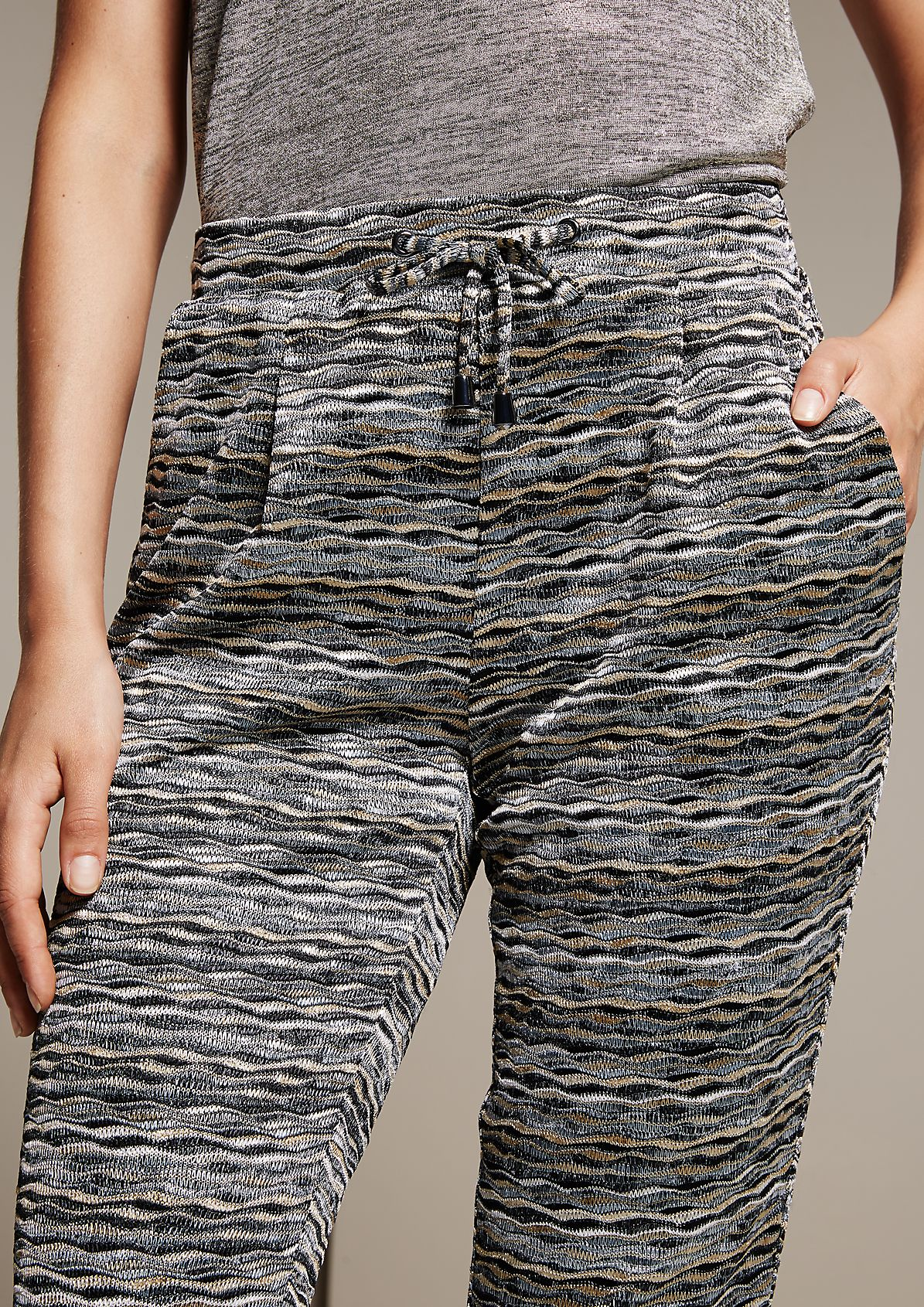 Cool, casual trousers with an abstract striped pattern from s.Oliver