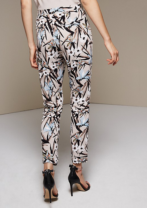 Lightweight crêpe trousers with ties from s.Oliver