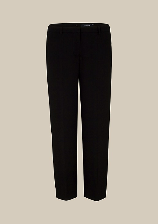 Lightweight crêpe trousers with a 7/8-length leg from s.Oliver