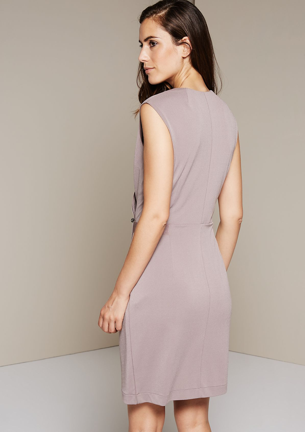 Elegant crêpe evening dress with sophisticated details from s.Oliver