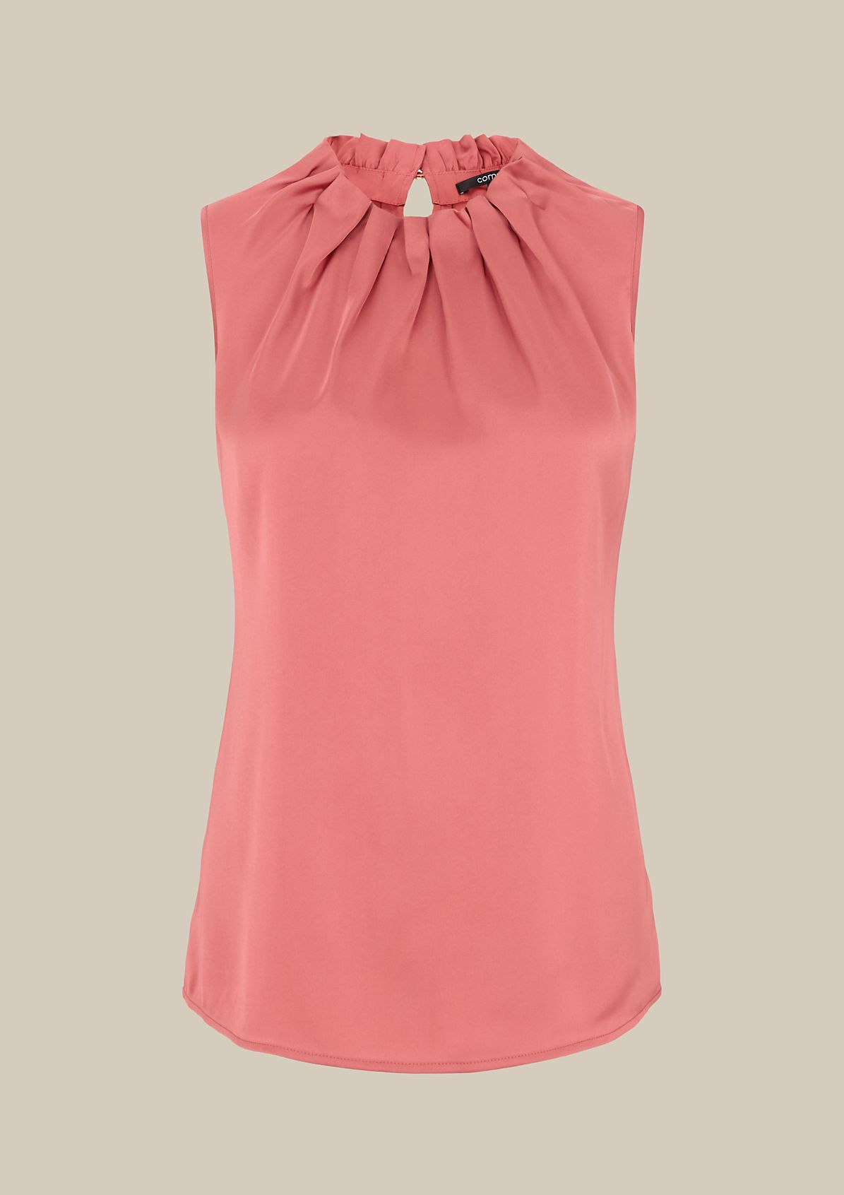 Satin top with a subtle sheen and pretty pleats from s.Oliver