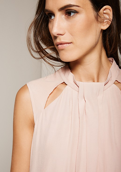 Elegant blouse top with sophisticated decorative pleats from s.Oliver