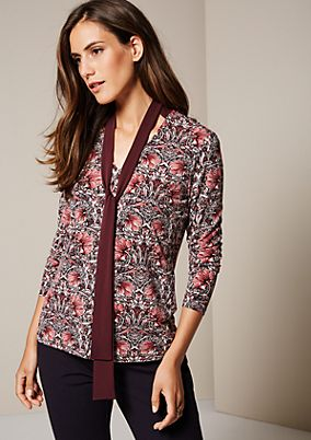 Elegant long sleeve jersey top with a wonderful all-over pattern from s.Oliver