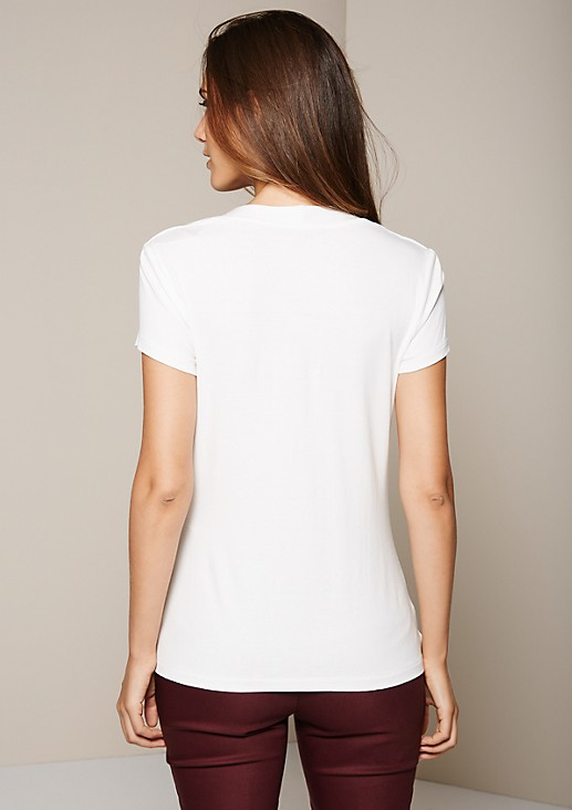 Beautiful short sleeve top with sophisticated details from s.Oliver