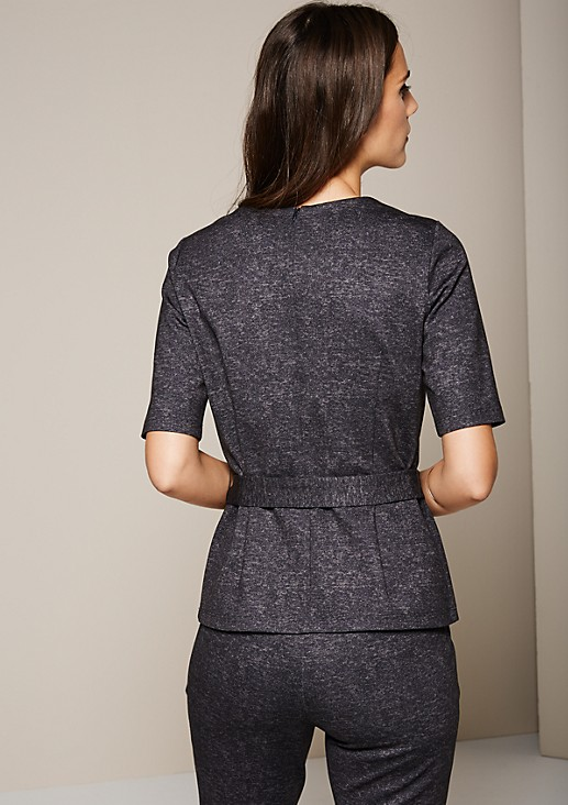 Elegant autumn top with a mottled finish from s.Oliver