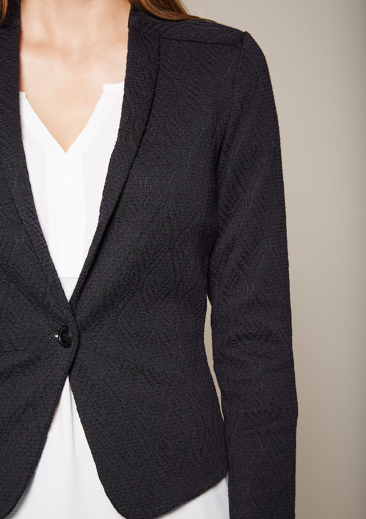 Fine blazer with an attractive jacquard pattern from s.Oliver